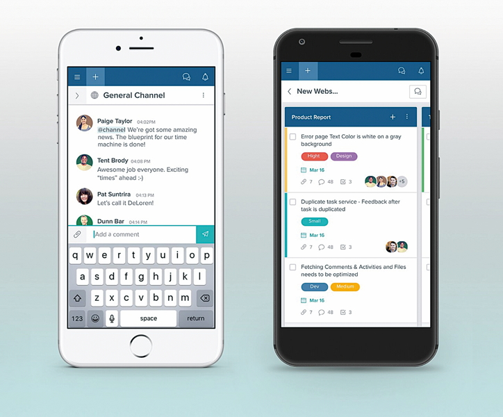 Mobile Projektmanagement-App mit Chat