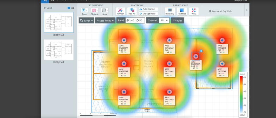 Engenius-Softwarewerkzeug denkt bei der WLAN-Planung mit